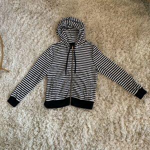 Calvin Klein velour striped hoodie
